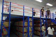 阁楼式货架的安装使用